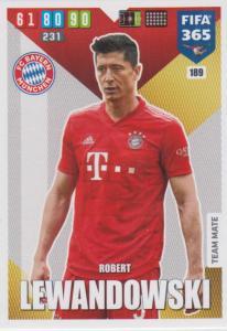 Adrenalyn XL FIFA 365 2020 - 189 Robert Lewandowski  - FC Bayern München - Team Mate