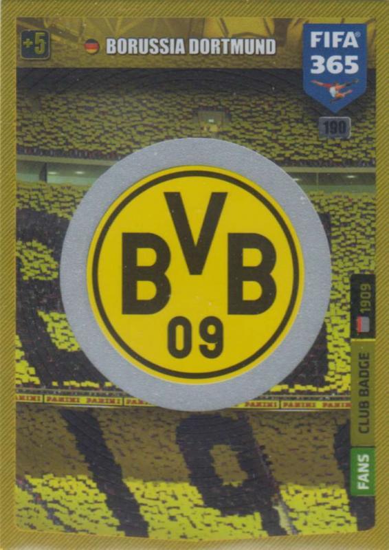 Adrenalyn XL FIFA 365 2020 - 190 Club Badge  - Borussia Dortmund - Club Badge