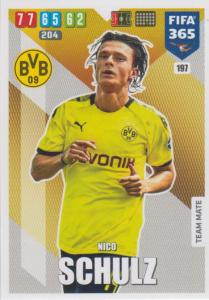 Adrenalyn XL FIFA 365 2020 - 197 Nico Schulz  - Borussia Dortmund - Team Mate