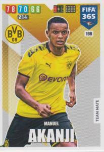 Adrenalyn XL FIFA 365 2020 - 198 Manuel Akanji  - Borussia Dortmund - Team Mate
