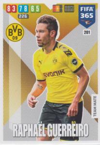 Adrenalyn XL FIFA 365 2020 - 201 Raphaël Guerreiro  - Borussia Dortmund - Team Mate