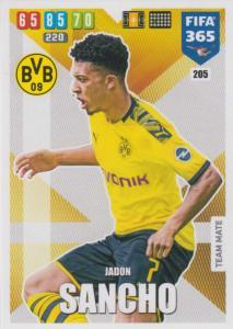 Adrenalyn XL FIFA 365 2020 - 205 Jadon Sancho  - Borussia Dortmund - Team Mate