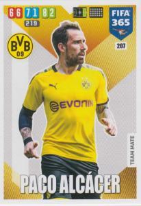 Adrenalyn XL FIFA 365 2020 - 207 Paco Alcácer  - Borussia Dortmund - Team Mate