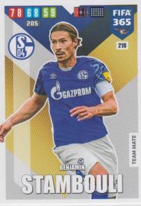 Adrenalyn XL FIFA 365 2020 - 216 Benjamin Stambouli  - FC Schalke 04 - Team Mate