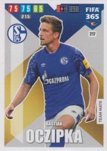 Adrenalyn XL FIFA 365 2020 - 217 Bastian Oczipka  - FC Schalke 04 - Team Mate