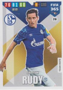 Adrenalyn XL FIFA 365 2020 - 218 Sebastian Rudy  - FC Schalke 04 - Team Mate