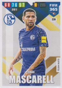 Adrenalyn XL FIFA 365 2020 - 220 Omar Mascarell  - FC Schalke 04 - Team Mate