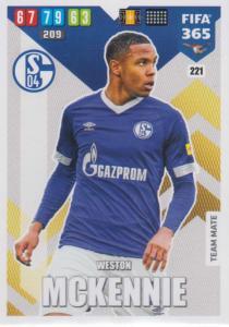 Adrenalyn XL FIFA 365 2020 - 221 Weston McKennie  - FC Schalke 04 - Team Mate