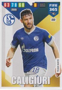 Adrenalyn XL FIFA 365 2020 - 222 Daniel Caligiuri  - FC Schalke 04 - Team Mate