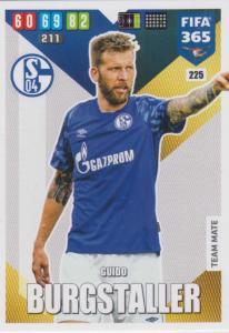 Adrenalyn XL FIFA 365 2020 - 225 Guido Burgstaller  - FC Schalke 04 - Team Mate
