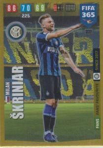 Adrenalyn XL FIFA 365 2020 - 227 Milan Škriniar  - FC Internazionale Milano - Fans' Favourite