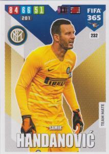 Adrenalyn XL FIFA 365 2020 - 232 Samir Handanovic  - FC Internazionale Milano - Team Mate