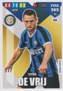 Adrenalyn XL FIFA 365 2020 - 233 Stefan de Vrij  - FC Internazionale Milano - Team Mate