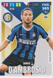 Adrenalyn XL FIFA 365 2020 - 234 Danilo D'Ambrosio  - FC Internazionale Milano - Team Mate