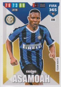 Adrenalyn XL FIFA 365 2020 - 235 Kwadwo Asamoah  - FC Internazionale Milano - Team Mate