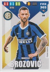 Adrenalyn XL FIFA 365 2020 - 236 Marcelo Brozović  - FC Internazionale Milano - Team Mate