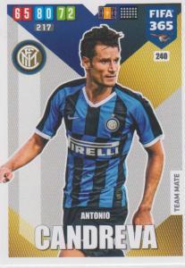 Adrenalyn XL FIFA 365 2020 - 240 Antonio Candreva  - FC Internazionale Milano - Team Mate