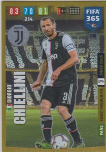 Adrenalyn XL FIFA 365 2020 - 245 Giorgio Chiellini  - Juventus - Fans' Favourite