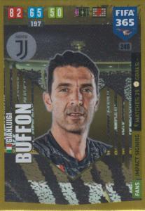 Adrenalyn XL FIFA 365 2020 - 246 Gianluigi Buffon  - Juventus - Impact Signing