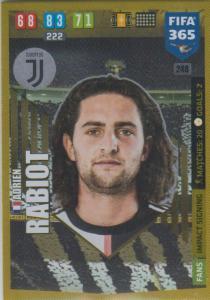 Adrenalyn XL FIFA 365 2020 - 248 Adrien Rabiot  - Juventus - Impact Signing