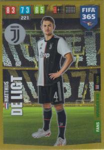 Adrenalyn XL FIFA 365 2020 - 249 Matthijs de Ligt  - Juventus - Wonder Kid