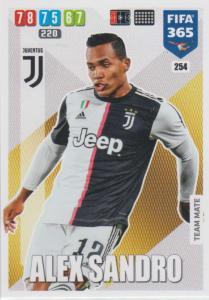 Adrenalyn XL FIFA 365 2020 - 254 Alex Sandro  - Juventus - Team Mate