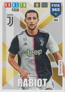 Adrenalyn XL FIFA 365 2020 - 259 Adrien Rabiot  - Juventus - Team Mate