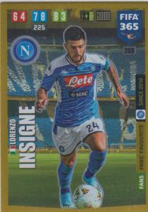 Adrenalyn XL FIFA 365 2020 - 263 Lorenzo Insigne  - SSC Napoli - Fans' Favourite