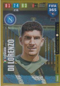 Adrenalyn XL FIFA 365 2020 - 265 Giovanni Di Lorenzo  - SSC Napoli - Impact Signing