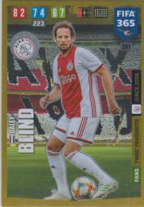 Adrenalyn XL FIFA 365 2020 - 281 Daley Blind  - AFC Ajax - Fans' Favourite