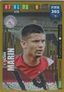 Adrenalyn XL FIFA 365 2020 - 284 Razvan Marin  - AFC Ajax - Impact Signing