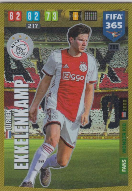 Adrenalyn XL FIFA 365 2020 - 285 Jurgen Ekkelenkamp  - AFC Ajax - Wonder Kid