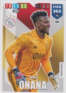 Adrenalyn XL FIFA 365 2020 - 286 André Onana  - AFC Ajax - Team Mate