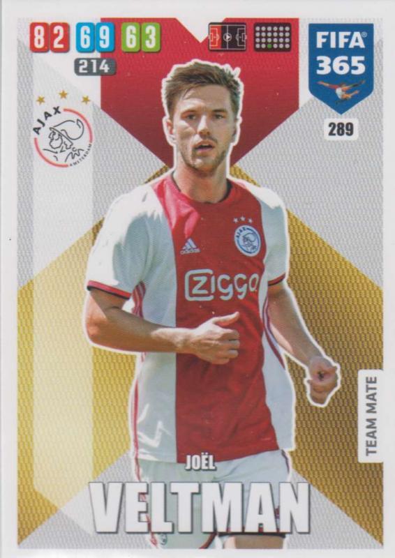 Adrenalyn XL FIFA 365 2020 - 289 Joël Veltman  - AFC Ajax - Team Mate