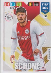 Adrenalyn XL FIFA 365 2020 - 292 Lasse Schöne  - AFC Ajax - Team Mate