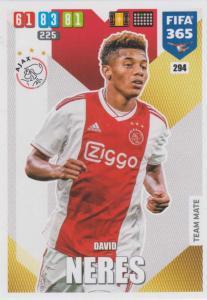 Adrenalyn XL FIFA 365 2020 - 294 David Neres  - AFC Ajax - Team Mate
