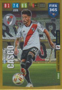 Adrenalyn XL FIFA 365 2020 - 299 Milton Casco  - CA River Plate - Fans' Favourite