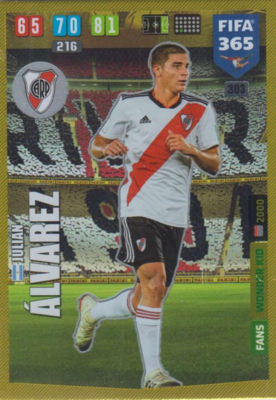 Adrenalyn XL FIFA 365 2020 - 303 Julian Alvarez  - CA River Plate - Wonder Kid