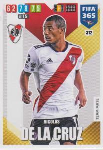 Adrenalyn XL FIFA 365 2020 - 312 Nicolas De La Cruz  - CA River Plate - Team Mate