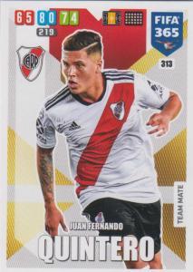 Adrenalyn XL FIFA 365 2020 - 313 Juan Fernando Quintero  - CA River Plate - Team Mate