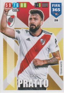 Adrenalyn XL FIFA 365 2020 - 314 Lucas Pratto  - CA River Plate - Team Mate