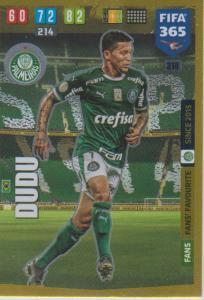 Adrenalyn XL FIFA 365 2020 - 318 Dudu  - Palmeiras - Fans' Favourite