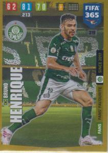 Adrenalyn XL FIFA 365 2020 - 319 Bruno Henrique  - Palmeiras - Fans' Favourite