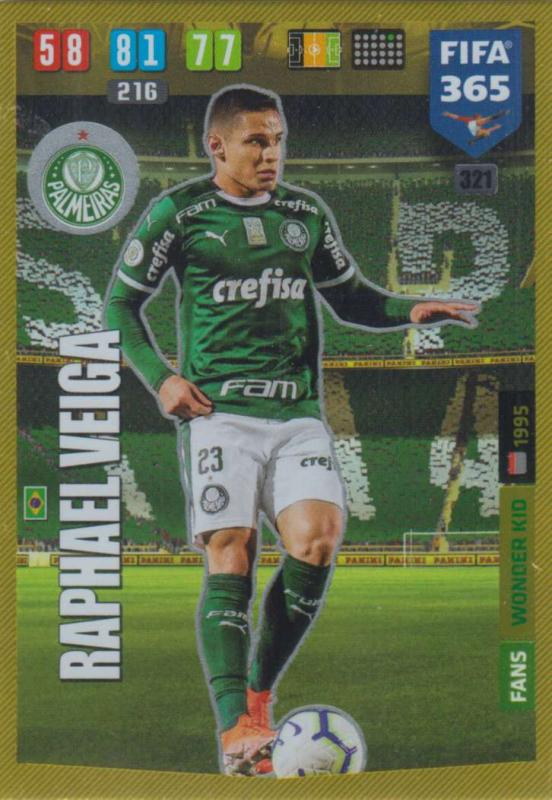 Adrenalyn XL FIFA 365 2020 - 321 Raphael Veiga  - Palmeiras - Wonder Kid