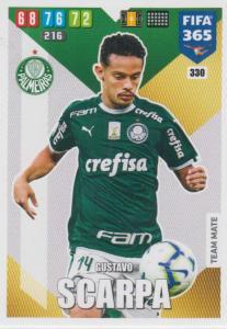 Adrenalyn XL FIFA 365 2020 - 330 Gustavo Scarpa  - Palmeiras - Team Mate
