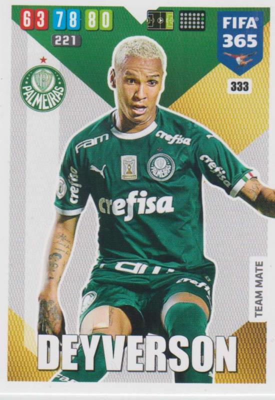 Adrenalyn XL FIFA 365 2020 - 333 Deyverson  - Palmeiras - Team Mate