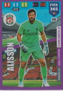 Adrenalyn XL FIFA 365 2020 - 335 Alisson  - Liverpool - Goal Stopper