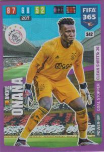 Adrenalyn XL FIFA 365 2020 - 342 André Onana  - AFC Ajax - Goal Stopper