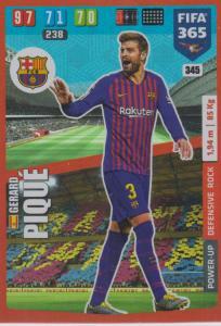 Adrenalyn XL FIFA 365 2020 - 345 Gerard Piqué  - FC Barcelona - Defensive Rock