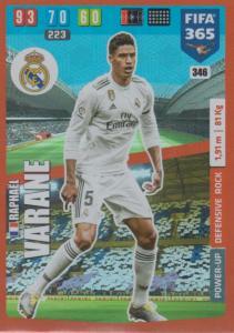 Adrenalyn XL FIFA 365 2020 - 346 Raphaël Varane  - Real Madrid CF - Defensive Rock